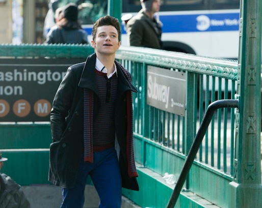 Glee: Chris Colfer in una scena dell'episodio New New York