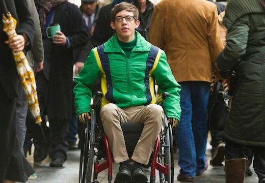 Glee: Kevin McHale in una scena dell'episodio New New York