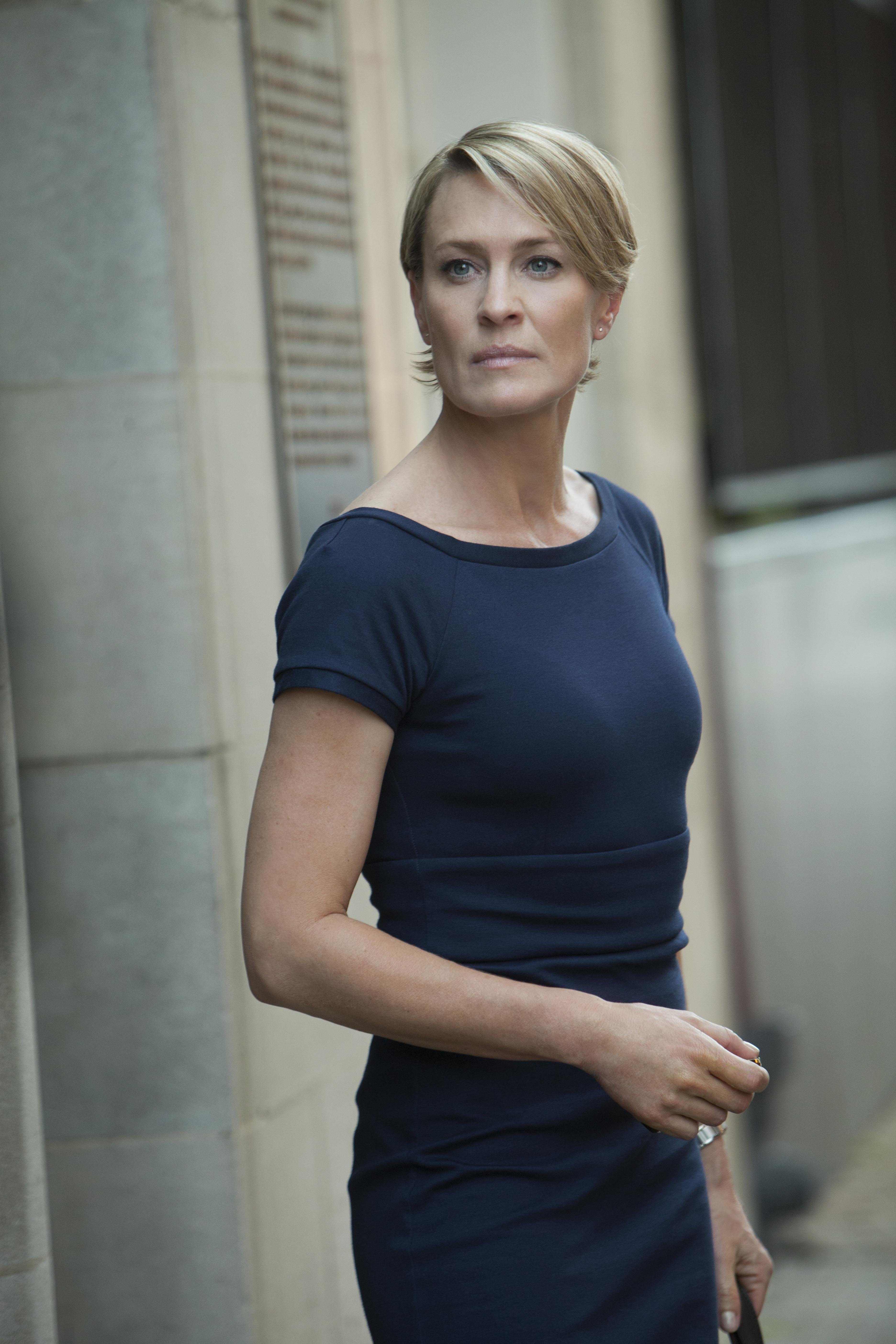 House of Cards: Robin Wright in una scena della serie
