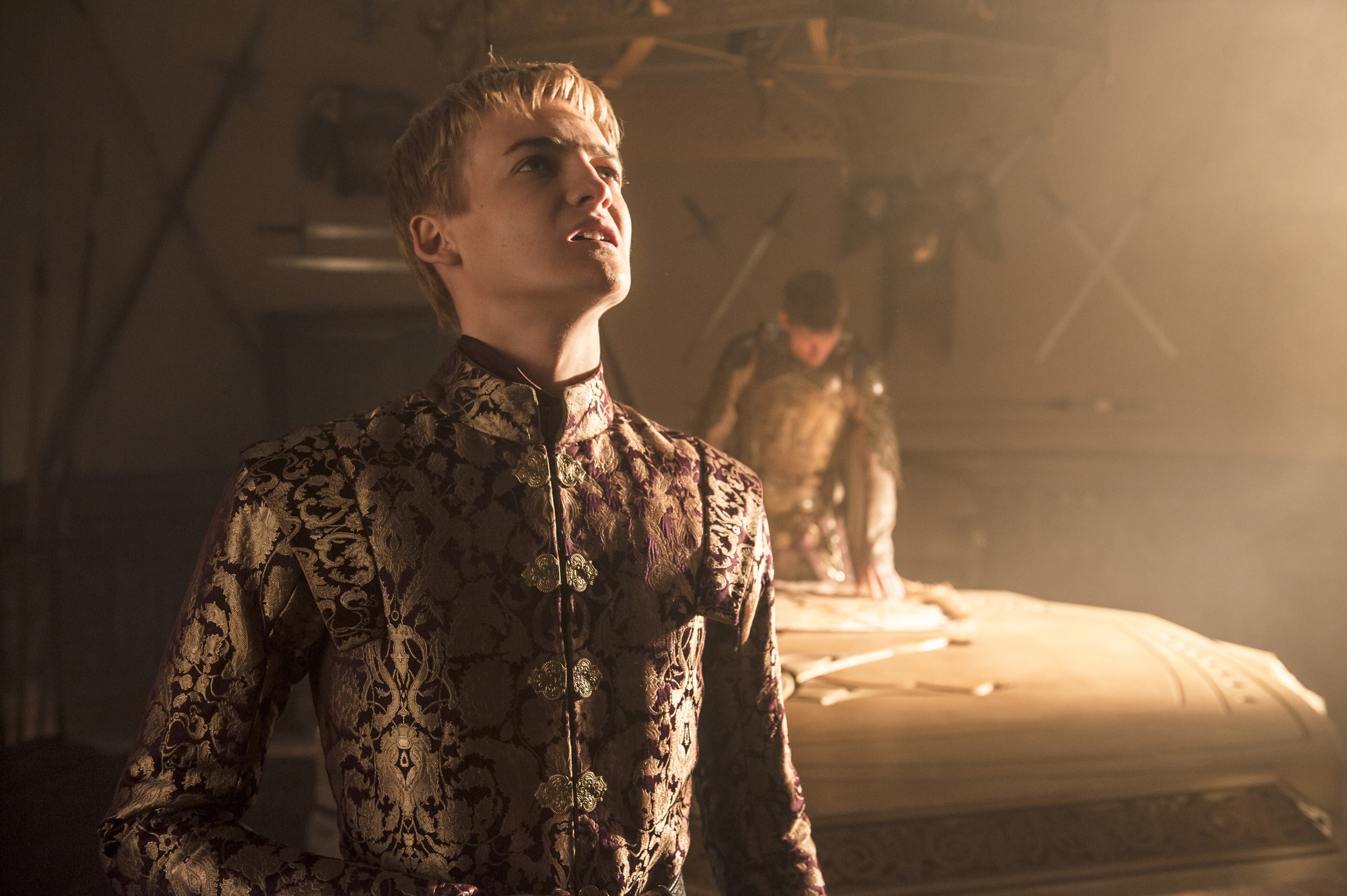 Il trono di spade: Jack Gleeson in una scena dell'episodio Two Swords