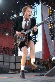 Una foto di Angus Young