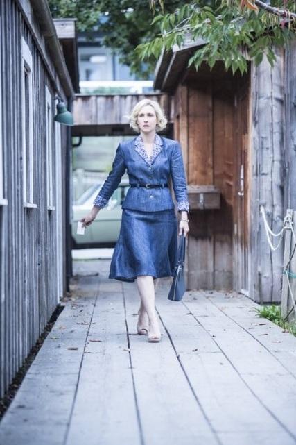 Bates Motel: Vera Farmiga in una scena dell'episodio The Escape Artist della seconda stagione