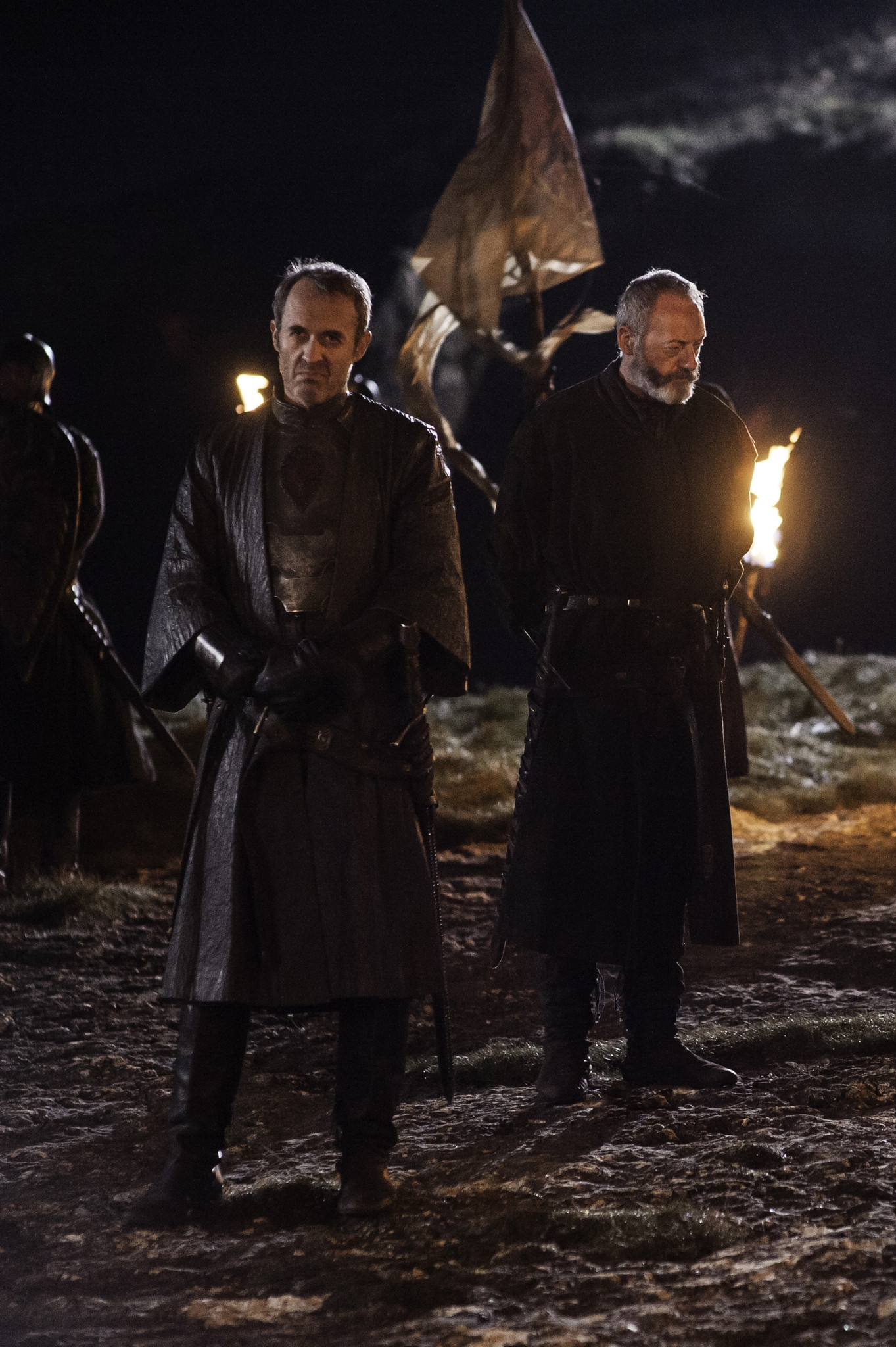 Il trono di spade: Stephen Dillane e Liam Cunningham nell'episodio The Lion and the Rose