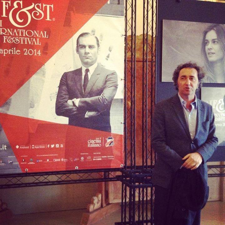 Paolo Sorrentino in una foto promozionale al Bif&st 2014