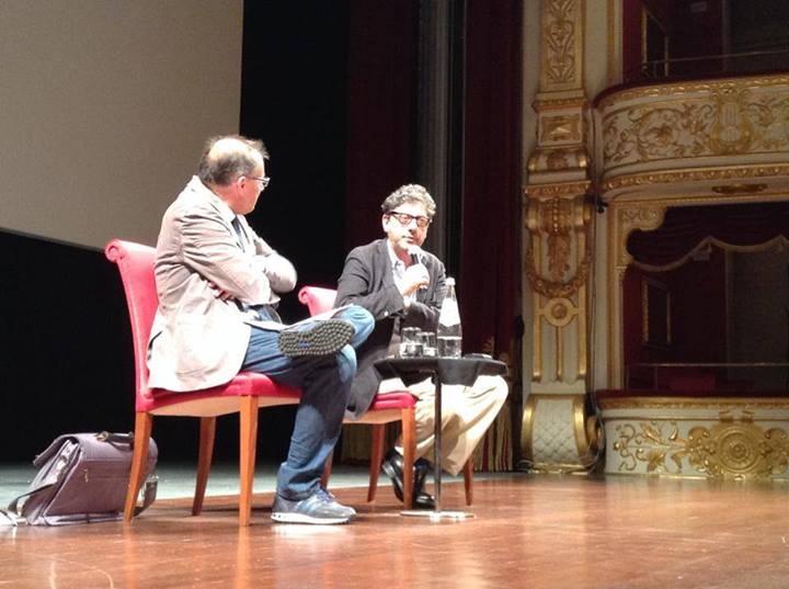 Sergio Castellitto al Bif&st 2014 durante la lezione di cinema al Teatro Petruzzelli
