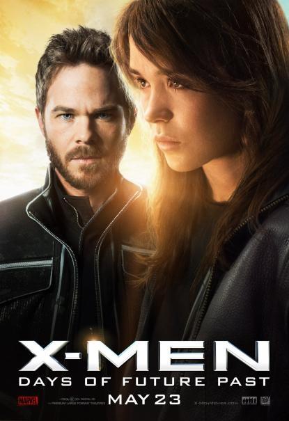 X-Men: Giorni di un futuro passato - Character poster con Ellen Page e Shawn Ashmore
