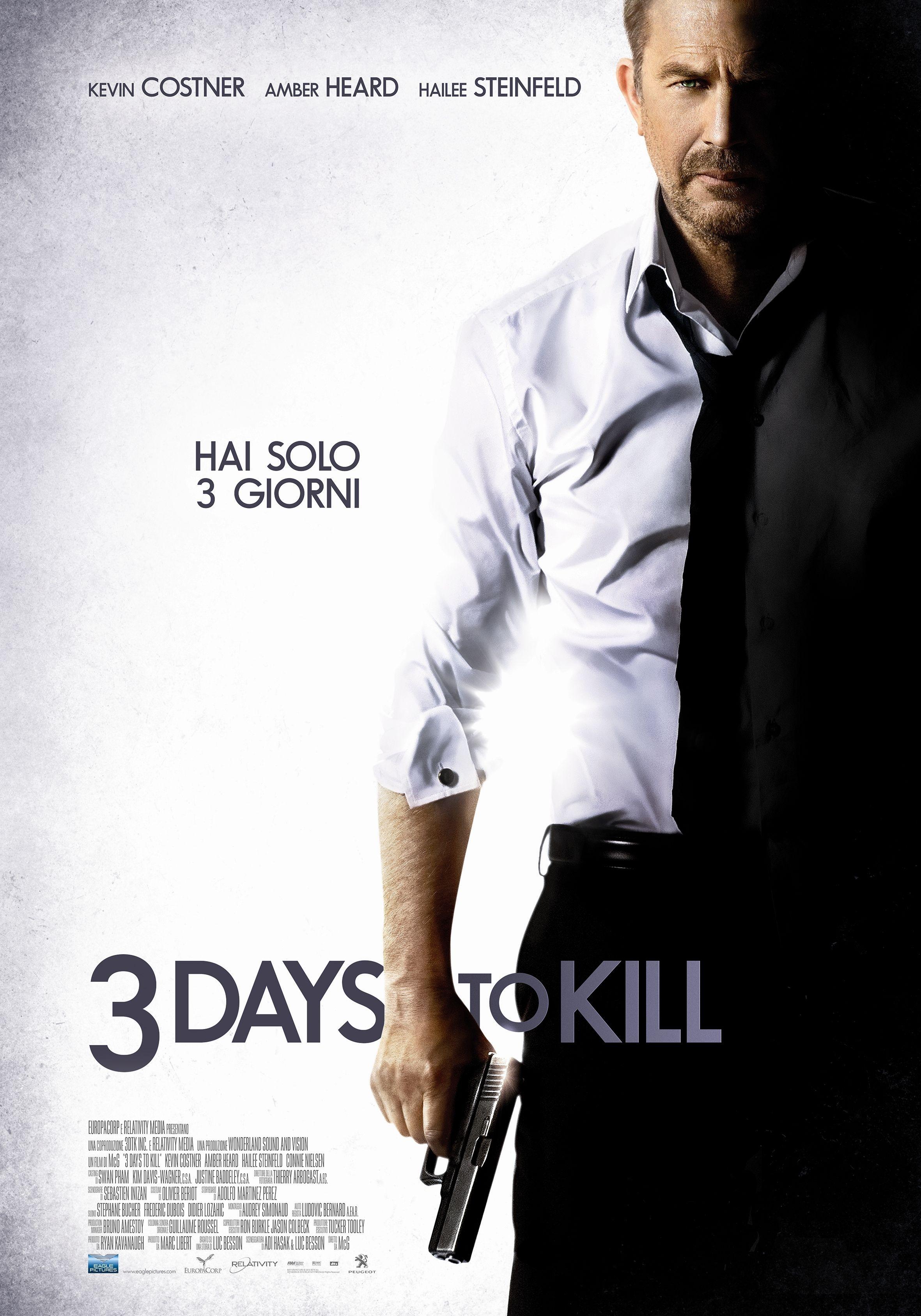3 Days to Kill: la locandina italiana del film