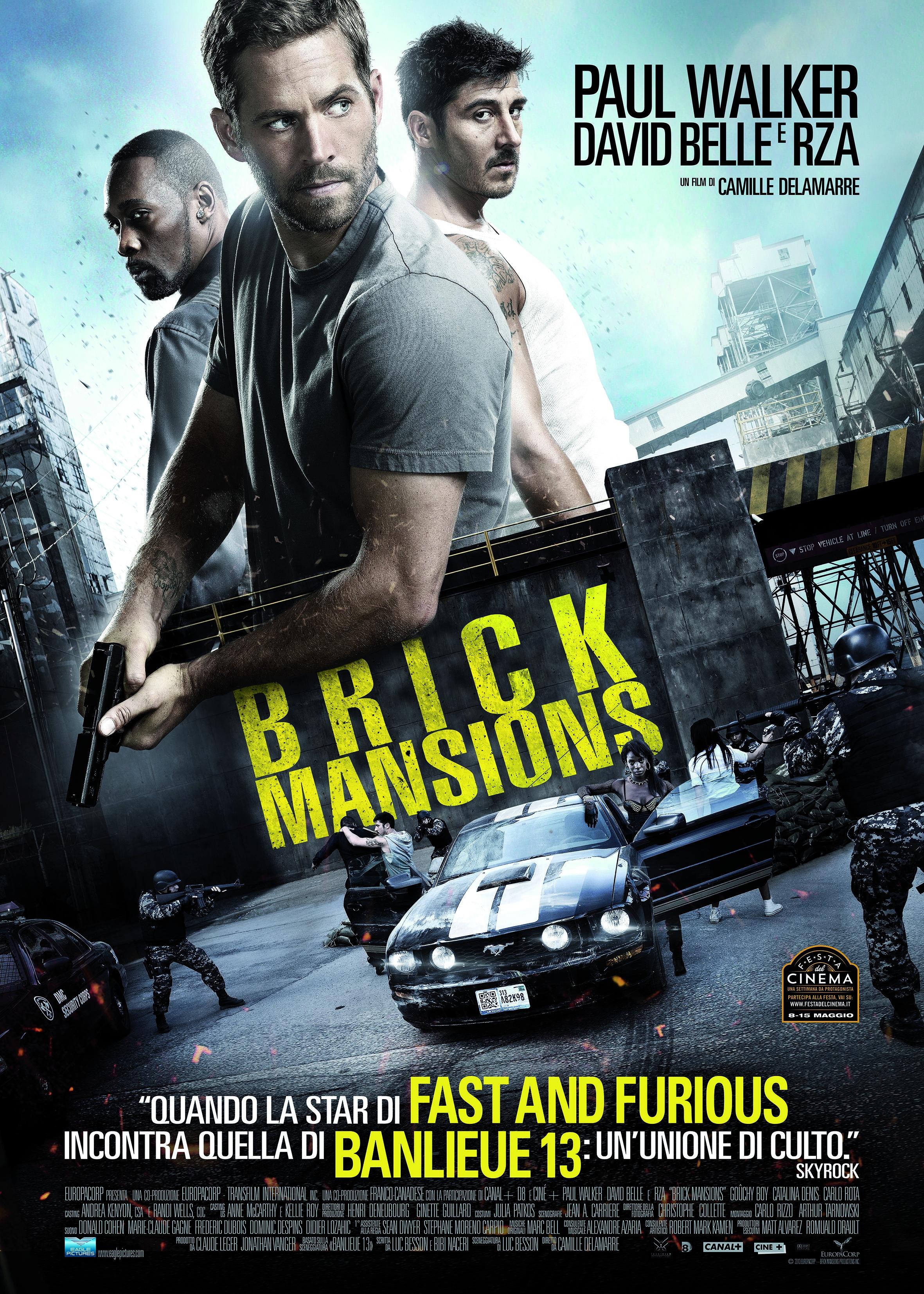 Brick Mansions: la locandina italiana del film