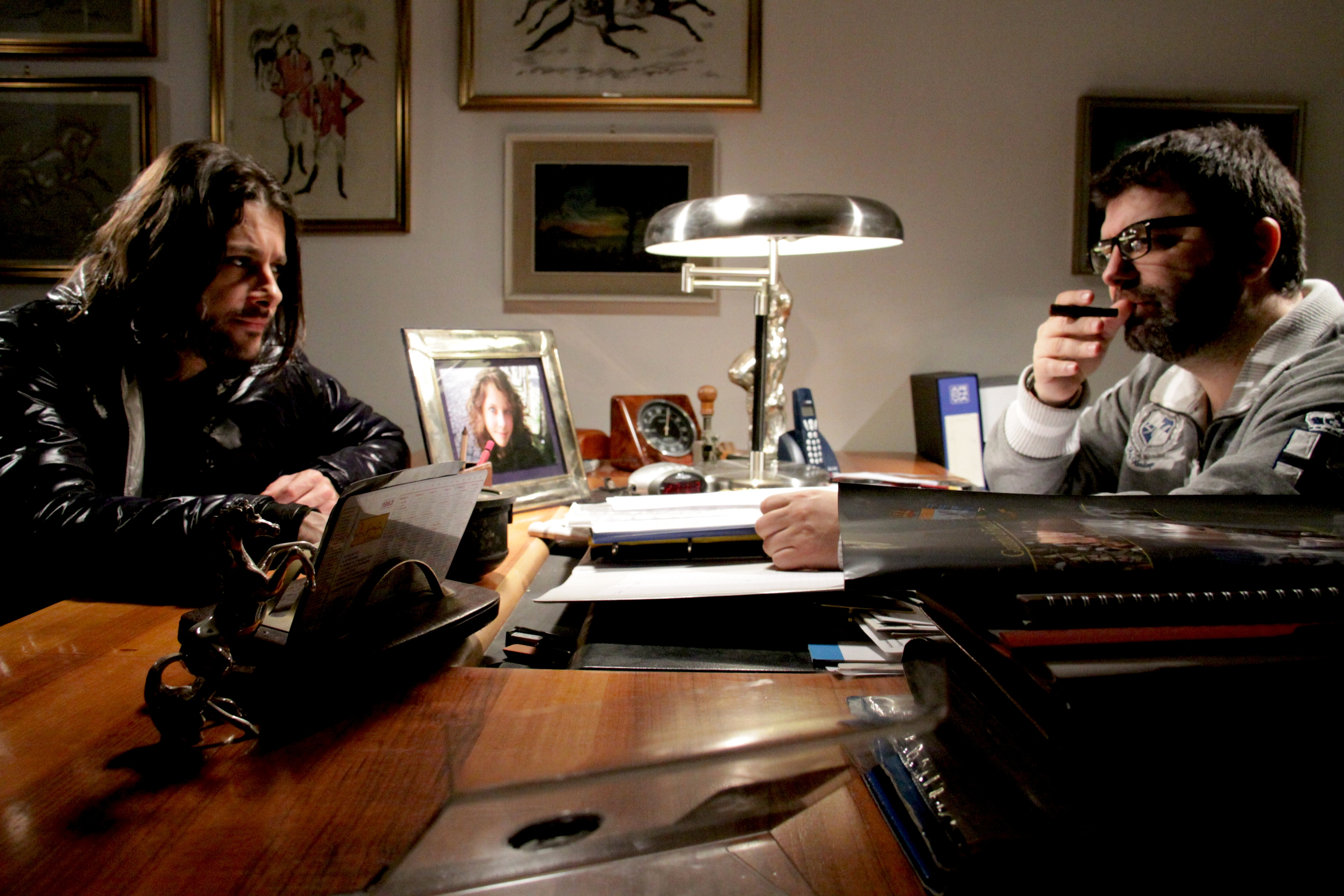 In Nomine Satan: Stefano Cavlagna con Emanuele Cerman in una scena