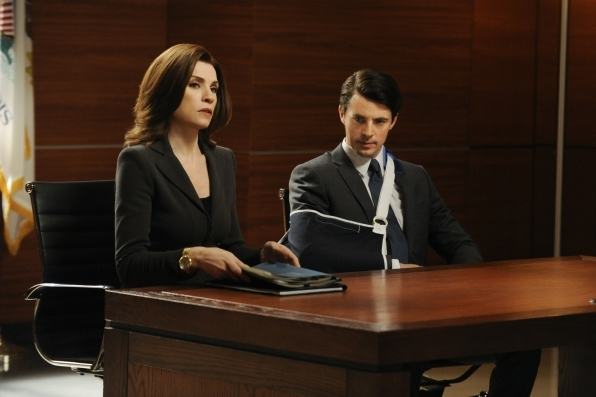 The Good Wife: Julianna Margulies e Matthew Goode nell'episodio All Tapped Out