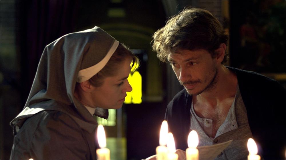 Diario di un maniaco perbene: Giorgio Pasotti in una scena del film con Valeria Ghignone
