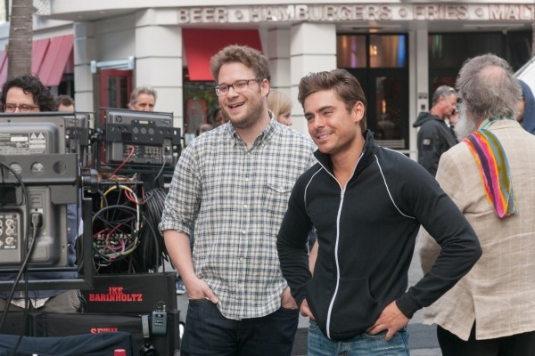 Neighbors: Seth Rogen e Zac Efron sul set