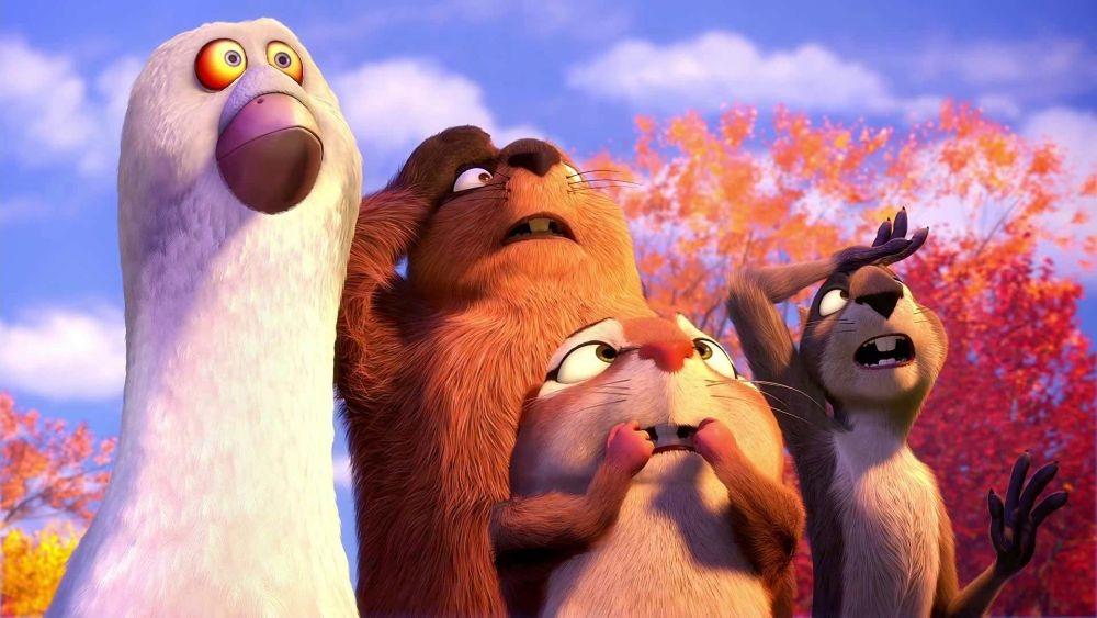 Nut Job - Operazione noccioline: Grayson e famiglia in un'immagine tratta dal film
