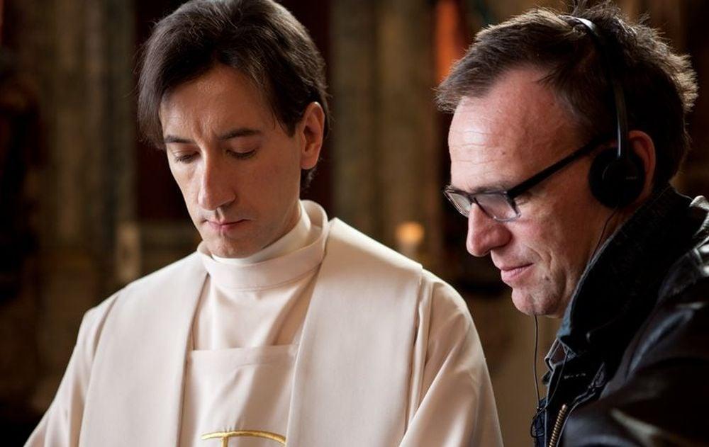 Padre vostro: Kresimir Mikic con il regista Vinko Brešan in una foto dal set