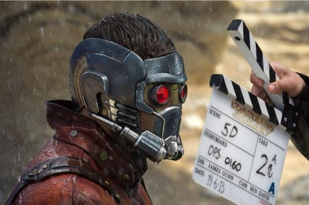 Guardians of the Galaxy: Chris Pratt in costume e il ciak
