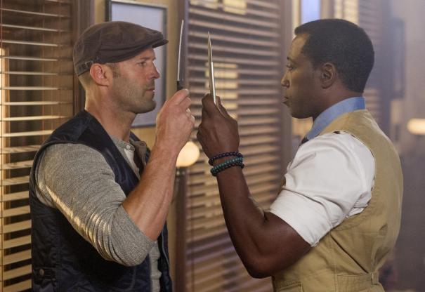I mercenari 3 - The Expendables: Jason Statham e Wesley Snipes si fronteggiano in una scena