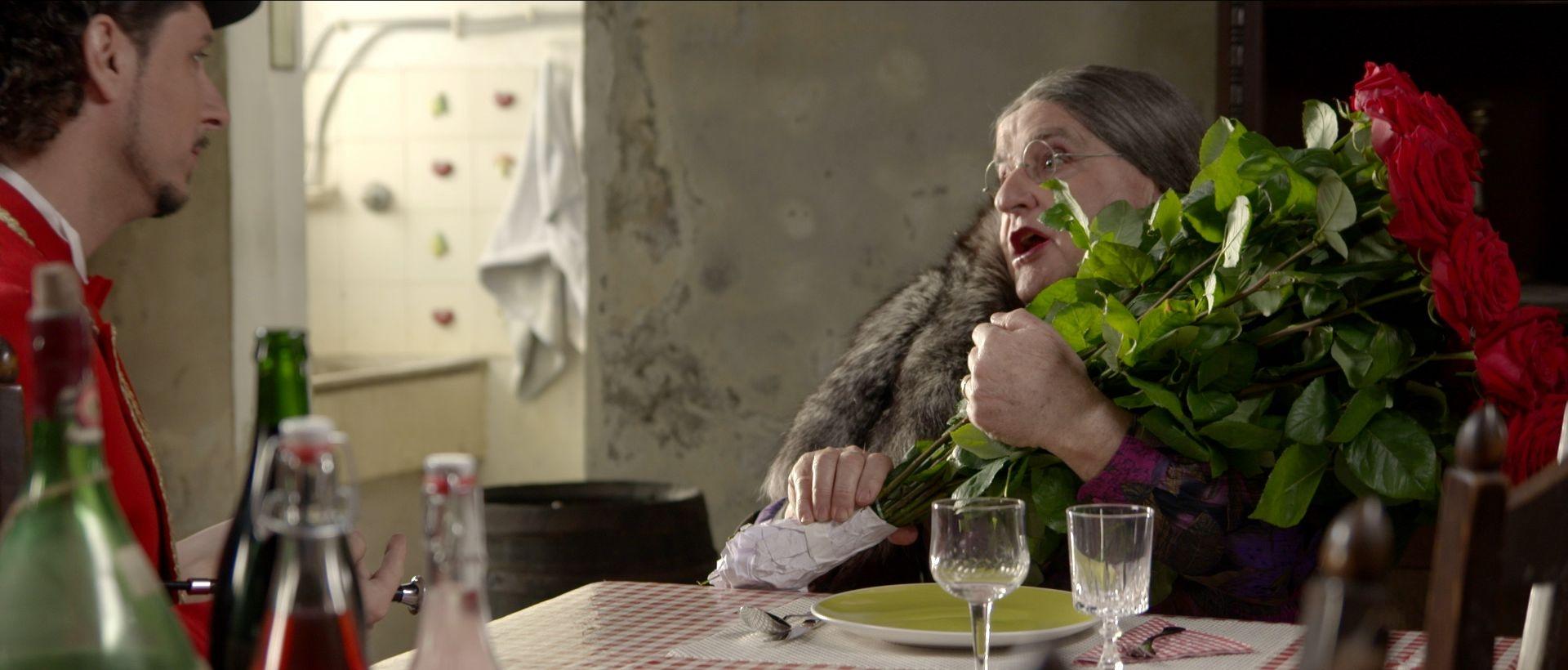 La palmira - Il film: Flavio Sala in una scena del film con Rodolfo Bernasconi