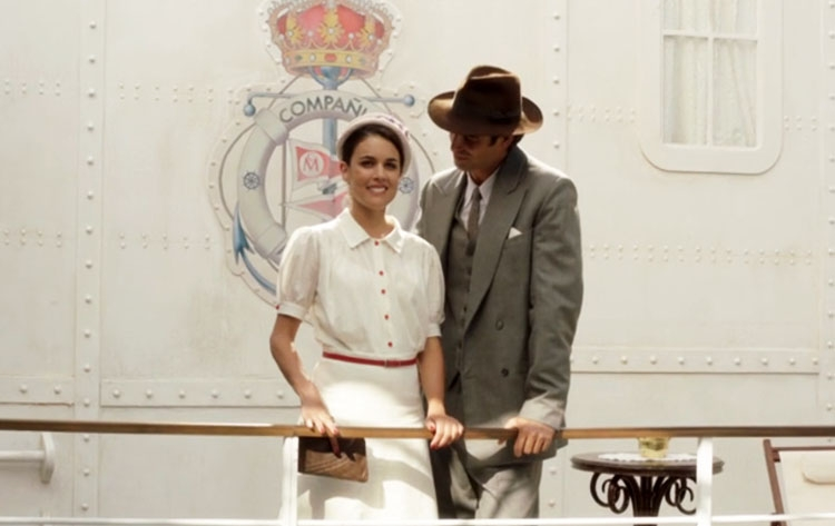 Adriana Ugarte in un momento della serie Il tempo del coraggio e dell'amore