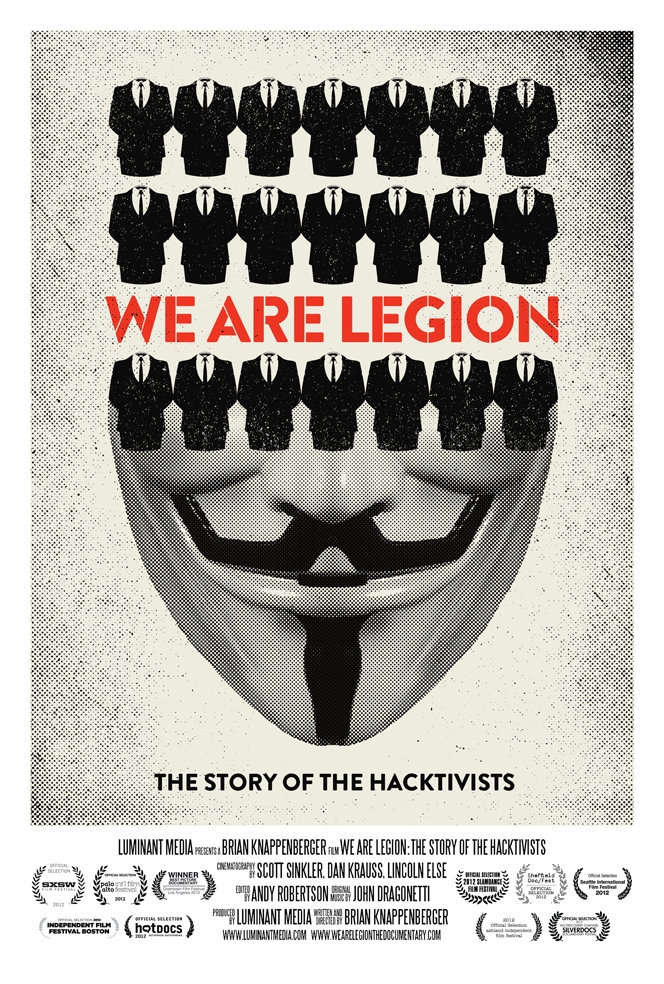 La locandina di We Are Legion: The Story of the Hacktivists