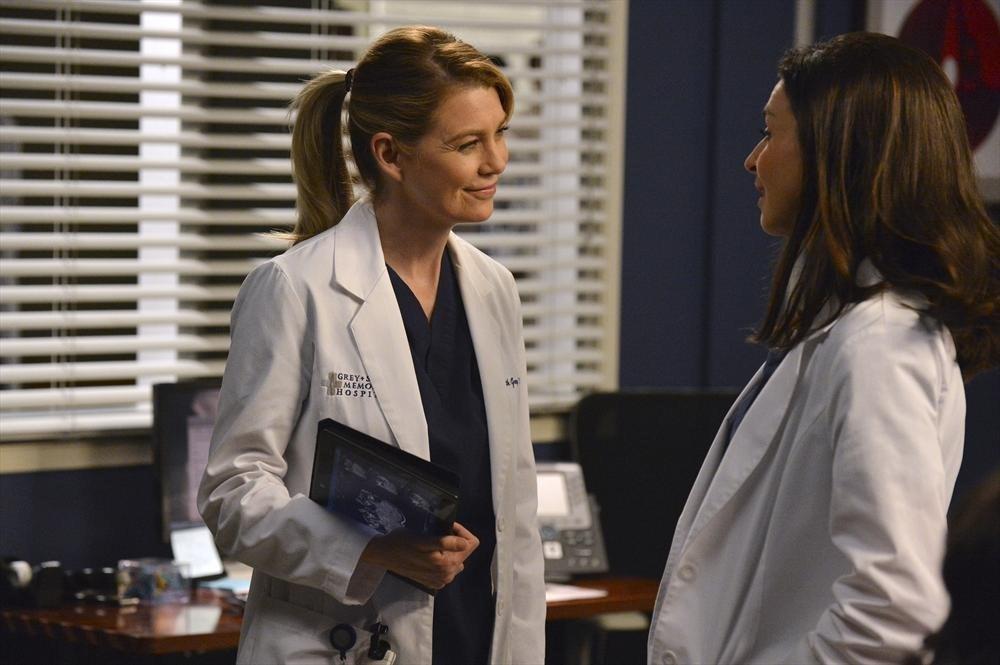 Grey's Anatomy: Ellen Pompeo e Caterina Scorsone nell'episodio We Are Never Getting Back Together