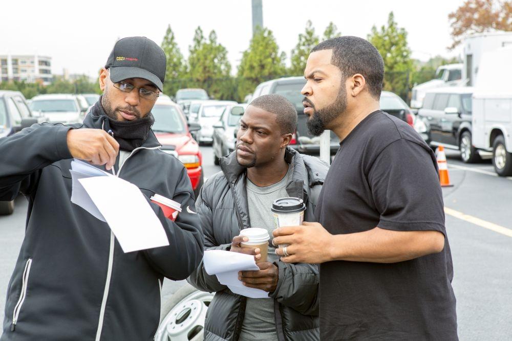 Poliziotto in prova: Kevin Hart e Ice Cube sul set del film con il regista Tim Story