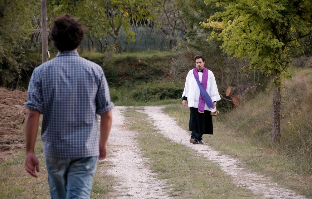 Sogni di gloria: Riccardo Goretti in una scena del film