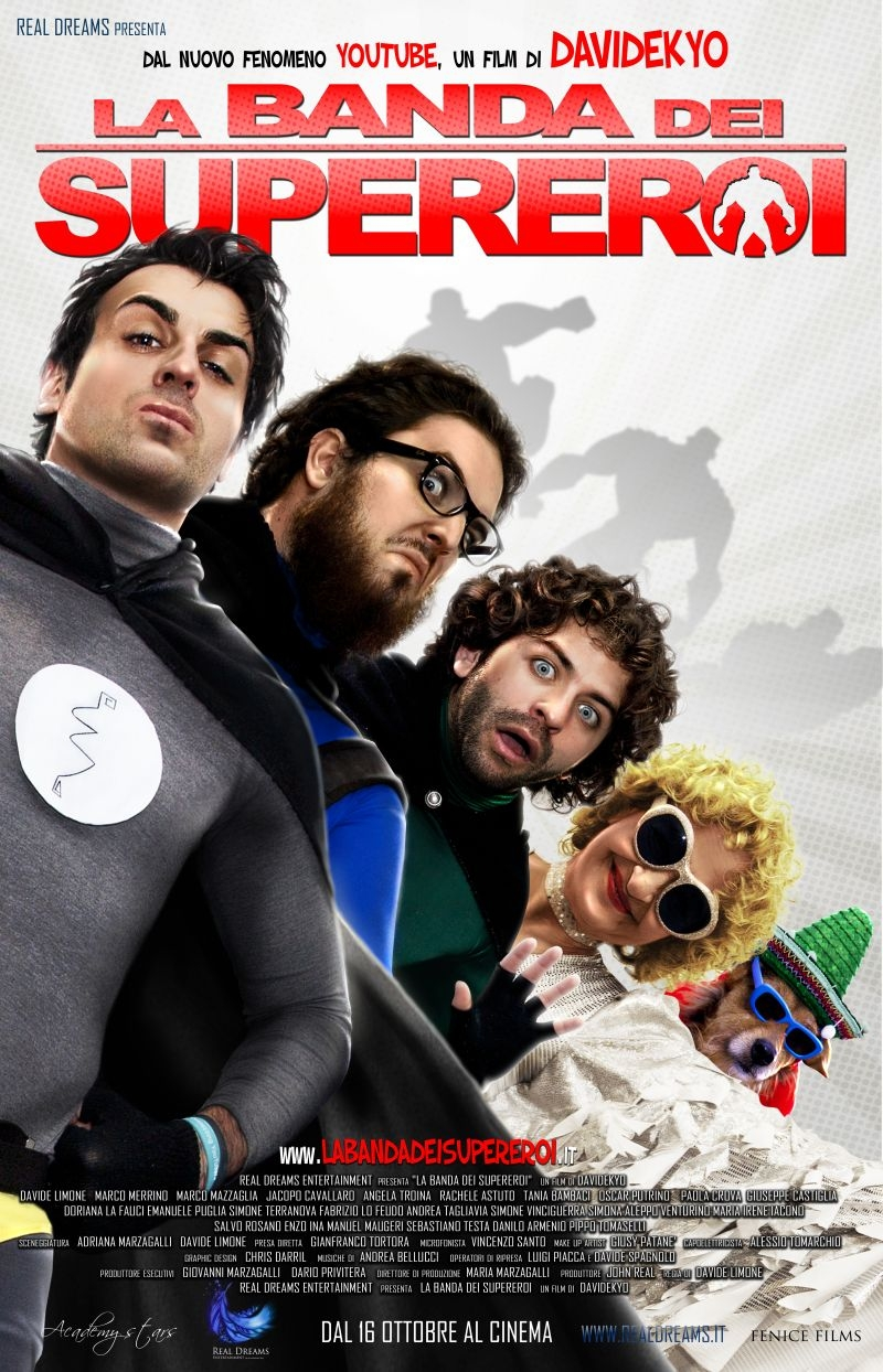 La banda dei supereroi: la locandina del film