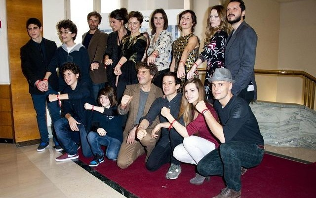 Carmelo Galati, Laura Chiatti e il cast di Braccialetti Rossi alla Conferenza stampa Rai