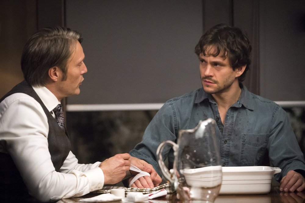Hannibal: Mads Mikkelsen e Hugh Dancy nell'episodio Naka-Choko