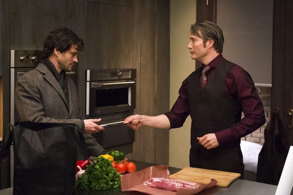 Hannibal: Mads Mikkelsen e Hugh Dancy nell'episodio Naka-Choko della seconda stagione