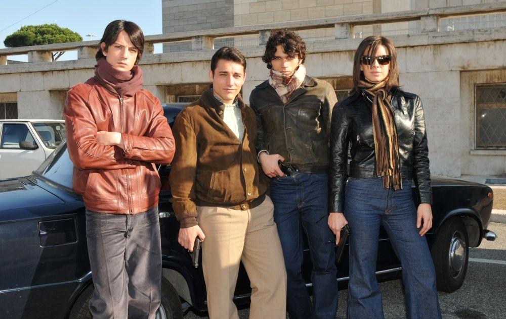 Bologna 2 Agosto... i giorni della collera: Lorenzo De Angelis, Roberto Calabrese, Marika Frassino e Giuseppe Maggio in una foto promozionale