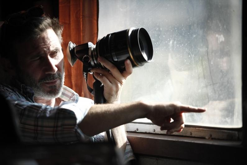 The search: il regista Michel Hazanavicius in una foto dal set