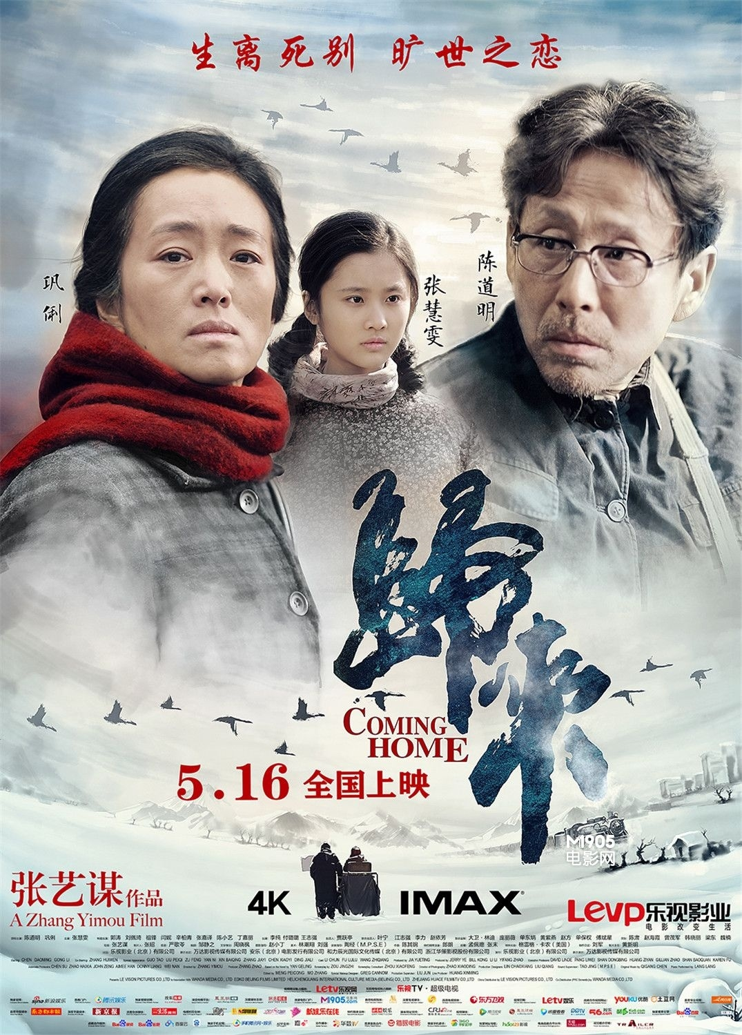 Coming home: il poster del film