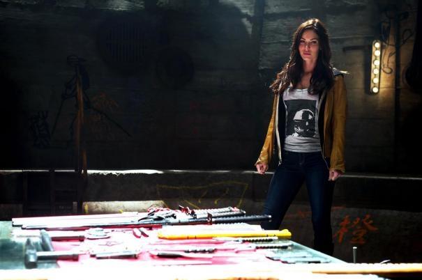 Tartarughe Ninja: Megan Fox in una scena del film
