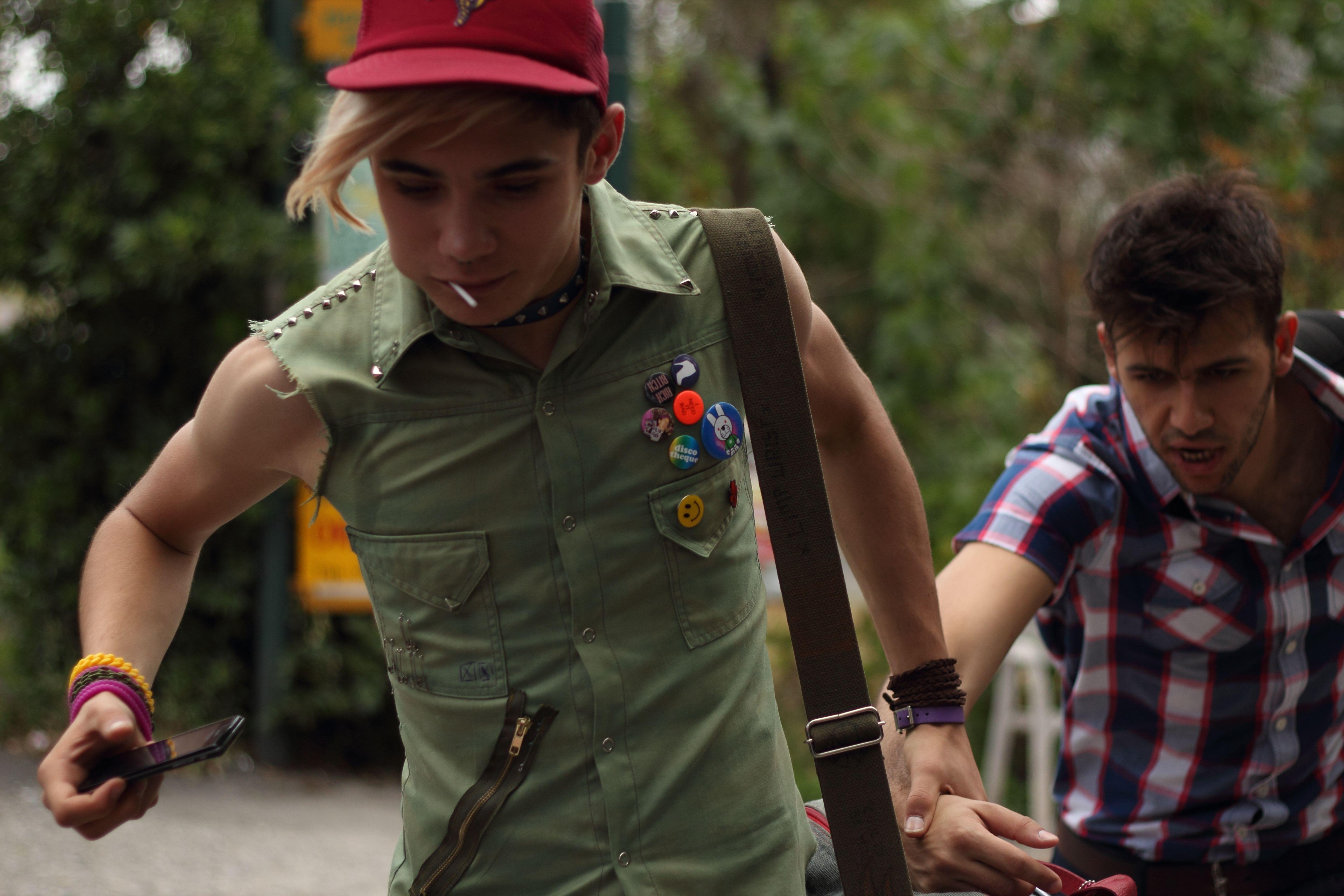 Xenia: Kostas Nikouli corre con Nikos Gelia in un'immagine del film
