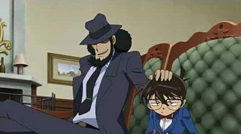 Lupin the 3rd vs Detective Conan: The Movie - Jigen mette una mano sulla testa di Conan
