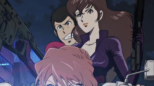 Lupin the 3rd vs Detective Conan: The Movie - Lupin e Fujiko in moto