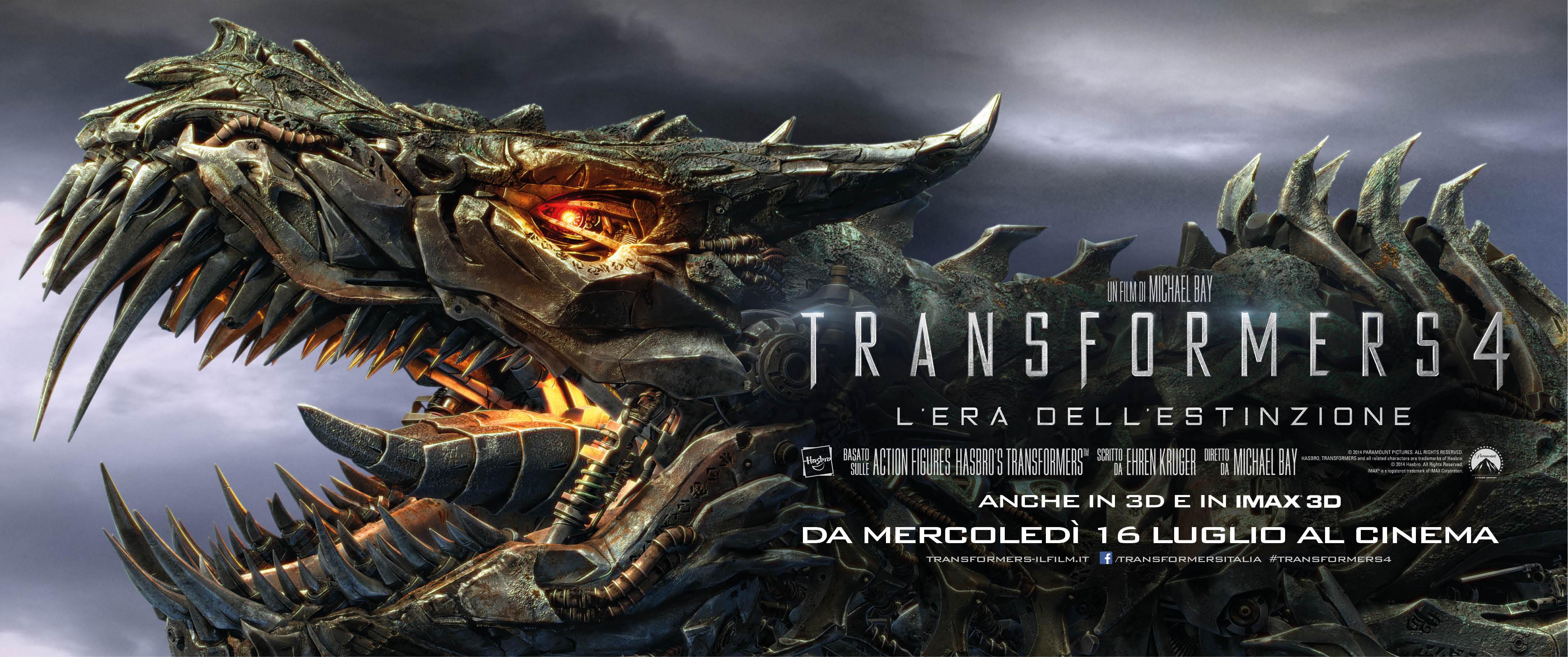 Transformers 4: L'era dell'estinzione, il primo poster orizzontale italiano del film