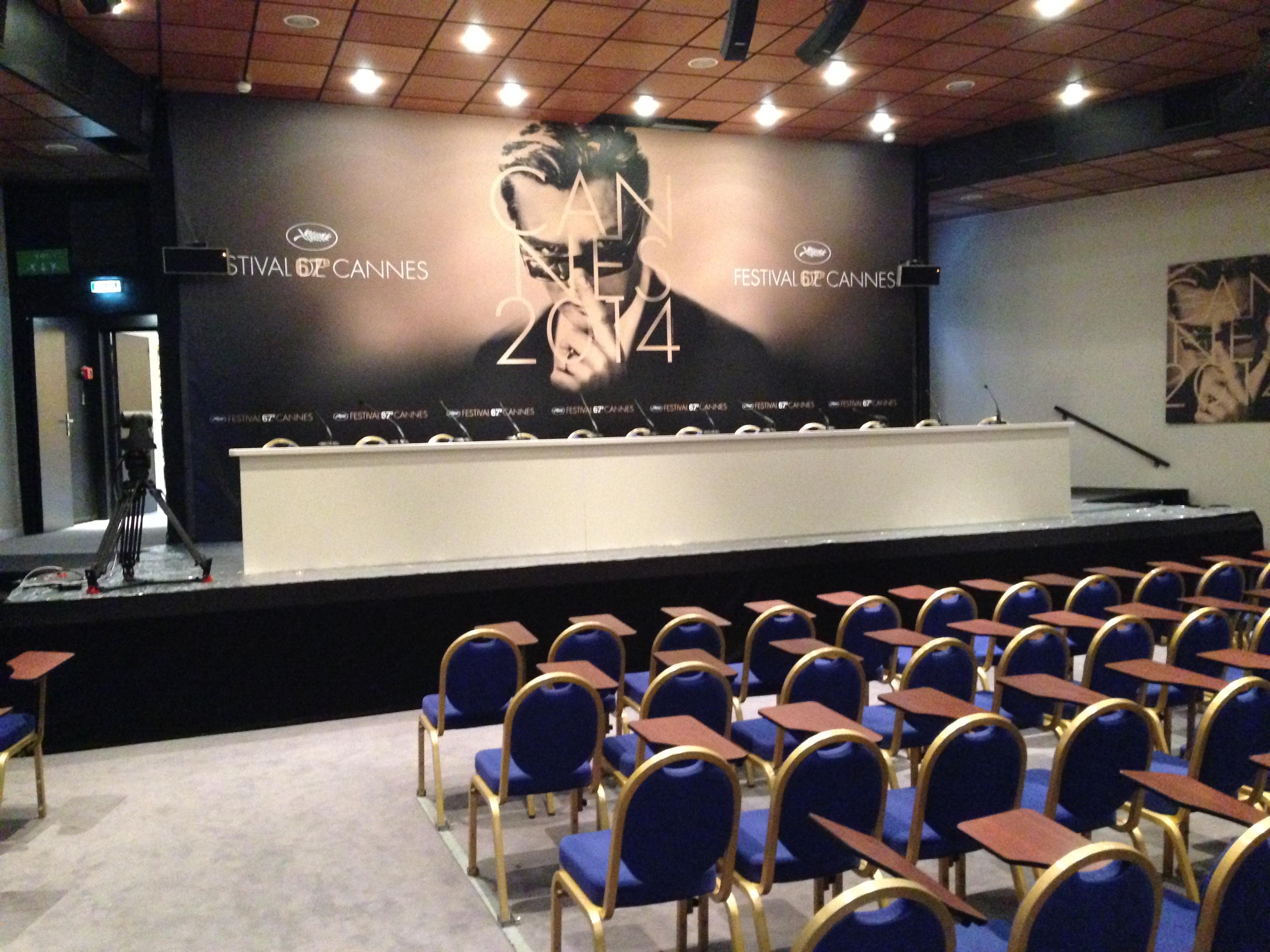 Cannes 2014: la sala conferenze