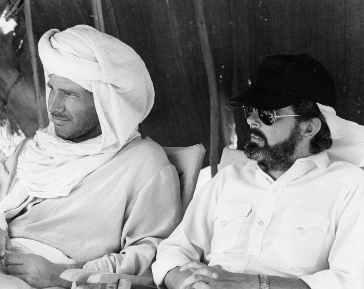 George Lucas e Harrison Ford sul set de I predatori dell'arca perduta
