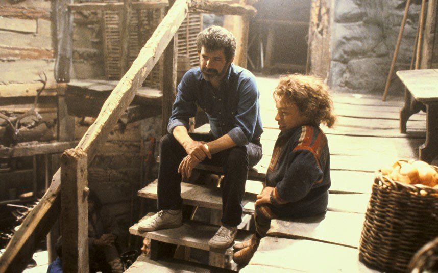 Willow, George Lucas sul set con Warwick Davis