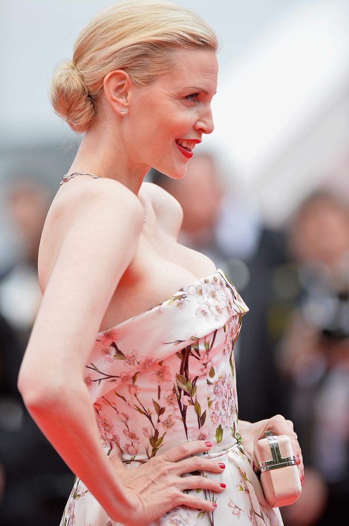 Nadja Auermann sul red carpet di Cannes 2014
