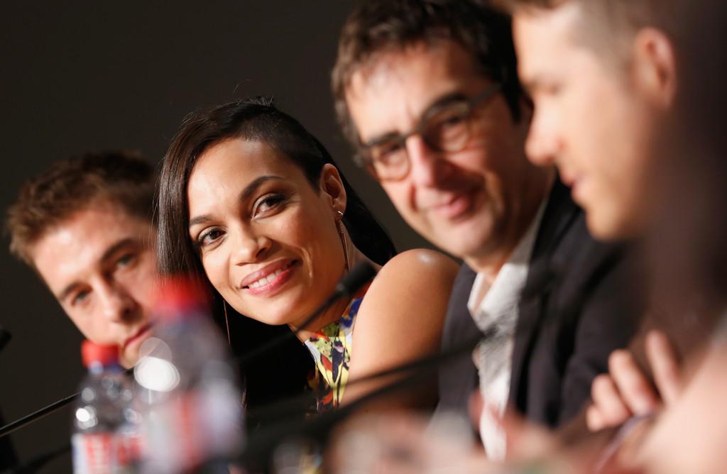 Cannes 2014, Rosario Dawson insieme al regista e cast di The Captive