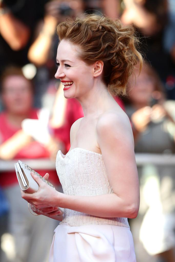 Miranda Otto sul tappeto rosso di Cannes 2014 - l'attrice presenta The Homesman