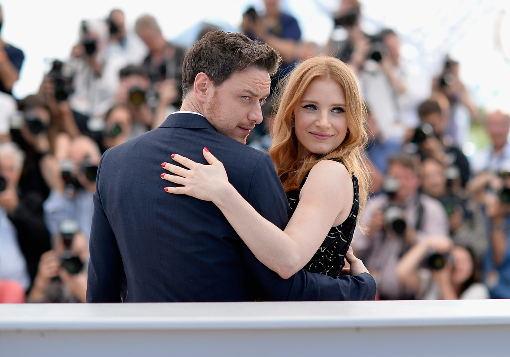 Jessica Chastain e James McAvoy a Cannes 2014 per The Disappearance of Eleanor Rigby