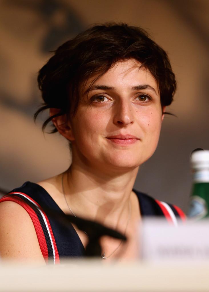 Alice Rohrwacher al Festival di Cannes 2014 per presentare il suo Le meraviglie