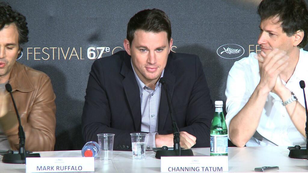 Foxcatcher: Channing Tatum durante la conferenza stampa del film a Cannes 2014