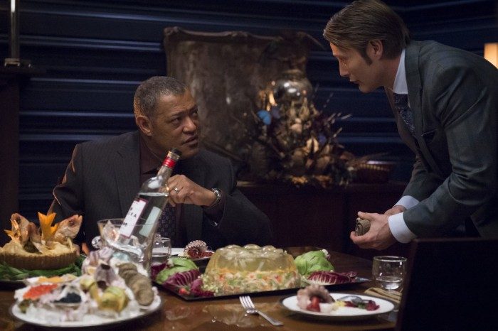 Hannibal: Laurence Fishburne e Mads Mikklesen nell'episodio Tome-wan