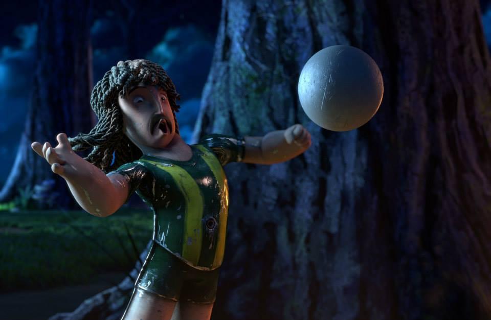 Goool!: Loco stoppa la palla di petto in una scena del film