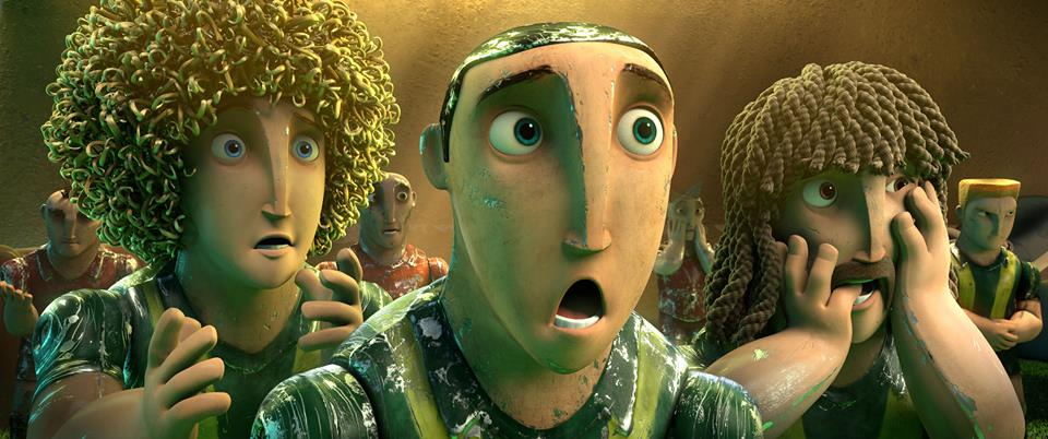 Goool!: Capi, Beto e Loco in una buffa scena del film animato